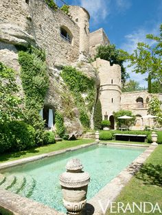 A pool in Provence...  Be still my heart.