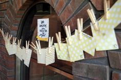 guests leave tips for the parents either on a clothes line or in a box