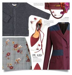 """""""Check It: Plaid"""" by dolly-valkyrie ❤ liked on Polyvore featuring Bottega Veneta, Hermès and plaid"""