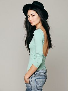 Intimately Solid Low Back Cami at Free People Clothing Boutique