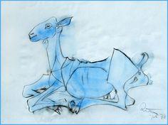 Ziege (Picassokopie von Kurt Ries)