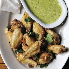 Spicy Cilantro Chicken Wings - FineCooking