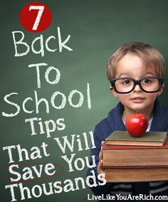 Looking for ways to save on School Expenses? Here are 7 tips that will save you thousands!