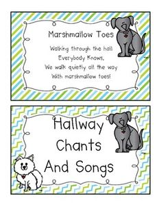 Hallway Chants and Songs Book