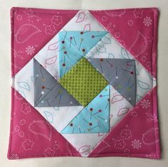 (7) Name: 'Quilting : Flying Geese Charm Square Mug Rug