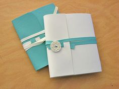 soft cover wrap around notebook #tutorial  - good for a diy planner or journal
