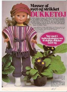 PRECIOSAS! Vestidos Nancy, Doll Clothes, Sewing Patterns, Alice, Crochet Hats, Teddy Bear, Dolls, Baby, Vintage
