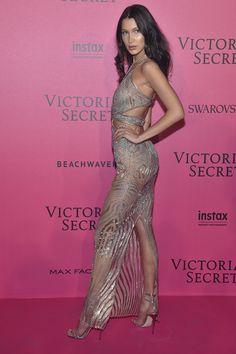 Bella Hadid in Julien McDonald - Red Carpet, Victoria's Secret Fashion Show 2016
