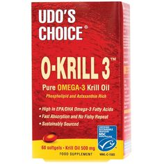 Udo's Choice O-Krill Pure Omega 3 Krill Oil 500mg | EFA/Oils - The UK's Number 1 Sports Nutrition Distributor | Shop by Category – The UK's Number 1 Sports Nutrition Distributor | Tropicana Wholesale