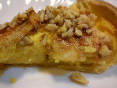 Tarte de maçã e amêndoa com farinha Custard na Bimby - Receitas Bimby