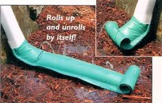 """46"""" DOWNSPOUT DRAIN by Rain Drain. $3.99. Stainless steel springs. 7-1/2"""" x 46"""".. Heavy-duty vinyl sleeve clamps onto any rectangular or round spout.. Water will gently disperse by moving flow away from the house. 46"""" One size fits all standard downspouts. Prevents Rain Water From Washing Away Your Soil. Self-Coiling Downspout Diverter prevents damp basements.  Pressure of rain water coming down the downspout automatically uncoils this downspout extender to disperse the water..."""