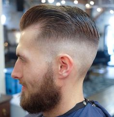 Wake Up and Smell the Barbicide Medium Skin Fade, Chris Morris, Pompadour, Hair Today, Hair Cuts, Leather, Fashion, Moda, Banana