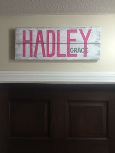 4ft Western Wood Rope Name Sign Baby Country Rustic