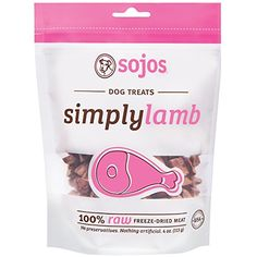 Sojos Simply Raw Freeze Dried Grain Free Dog Treats Lamb 4Ounce Bag * See this great product. Note: It's an affiliate link to Amazon.