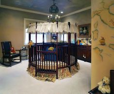This crib is awesome, split into 4 sections for quadruplets or daycare.  Awesome Houses! : Photo