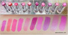10 New Lakmé Enrich Satin Lipsticks Photos & Swatches