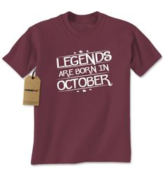 Legends Are Born In October Mens T-shirt