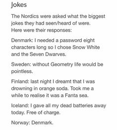 I had a feeling Norway would say that