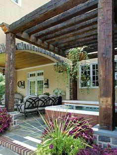 Fantastic Custom Outdoor Pergola Ideas for a Beautiful Outdoor Home Decoration : Rustic Custom Outdoor Pergola Ideas   See more about outdoor pergola, home decorations and pergolas.