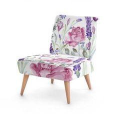 "#HomeDecor   Custom Chair ""Rosa"" watercolour design by Kate Chloe   http://www.katechloe.com/#!product/prd14/4521393931/custom-chair-%22rosa%22"