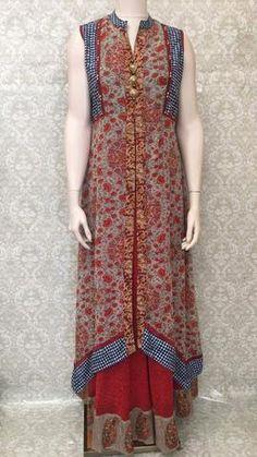 4e126011e44 Layered Long Gown Maxi Dress - Sarang Beaded Embroidery