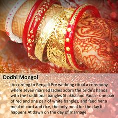 As the proverb goes, marriages are made in heaven. Marriage is considered to be an auspicious ceremony in any culture and it gets special importance in Bengali culture. 'Dodhi Mongol' a beautiful ceremony in Bengali wedding. Take a look #wedding #india #sbj #luxury