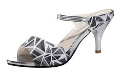 Freerun Women's Fashion Peep-Toe Geometric Style Cloth Ankle-Strap Heeled Sandal -- Be sure to check out this awesome product.