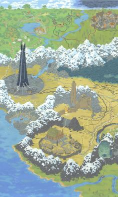 Geek culture cartography, pretty cool - LOTR
