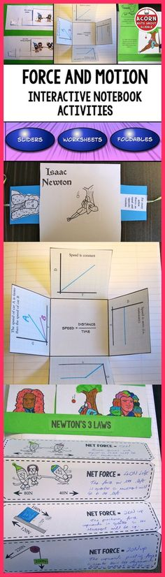 This Interactive Notebook on Force and Motion is packed with activities, foldables, sliders and more to make a fun filled and interesting topic for both you and your students.