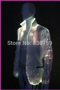 economico, Acquista direttamente dai fornitori cinesi: led luminosi 2014 moda uomo vestito abiti da sposa per uomo con fibra ottica tessuto rgb di colore variabile