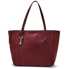 Fossil Emma Tote Zb6844609 Color: Wine ($198) ❤ liked on Polyvore featuring bags, handbags, tote bags, shopping bag, handbag tote, structured tote, shopper tote and wine purse