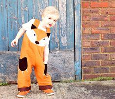 costume salopette Fox pour enfants
