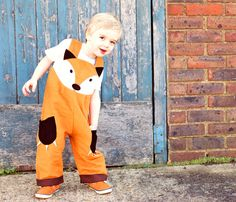 fox dungaree costume for children от wildthingsdresses на Etsy