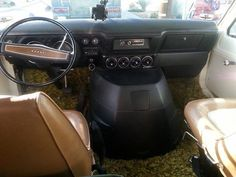Front cab area...the Brown leather and black dash is really nice