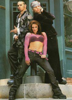 Team Xtreme: Matt & Jeff Hardy and Lita (Amy Dumas) Hardy Boys Wwe, The Hardy Boyz, Jeff Hardy, Wrestling Stars, Wrestling Divas, Wwe Lita, Attitude Era, Wwe Pictures, Wwe Female Wrestlers