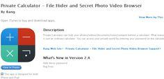 private application Secret Photo, App, Photo And Video, Blog, Apps, Blogging