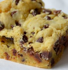 Ingredients  1 stick of butter  2 eggs  1 yellow cake mix  1 bag of semi-sweet chocolate chips   Directions       1. Melt butter in ...