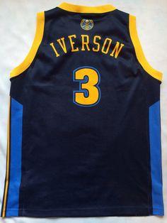 Denver Jersey Nuggets  Allen Iverson jersey by FootballBascetShirt