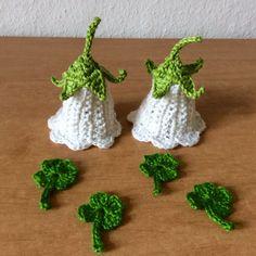 DIY Set Osterdeko Tischschmuck Eierwärmer/Eierhaube gehäkelten Glockenblume