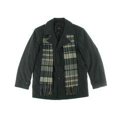 London Fog Mens Wool Heathered Pea Coat