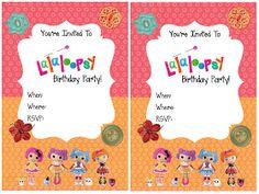 La La Loopsy Birthday party invitations free printable template.