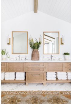 light wood large double vanity with open shelving on bottom; CLICK Image for full details light wood large double vanity with open shelving on bottom; modern traditional bathroom Source by . Bathroom Interior Design, Home Interior, Decor Interior Design, Interior Decorating, Bad Inspiration, Bathroom Inspiration, Bathroom Towel Storage, Bathroom Towels, Towel Shelf