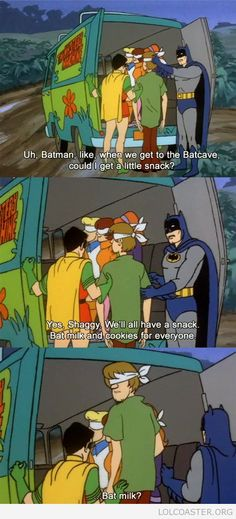 To the batcave!