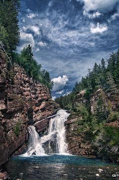 Waterton Lakes National Park, Canada - Cameron Falls.