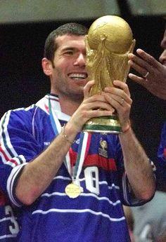 Zidane celebrating 1998's World Cup Victory