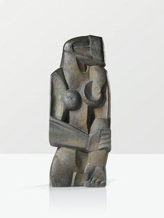ce-sac-contient:  Ossip Zadkine (1890-1967) - Femme debout, 1922 Bronzede 1963 par Susse fondeur(77,8cm)