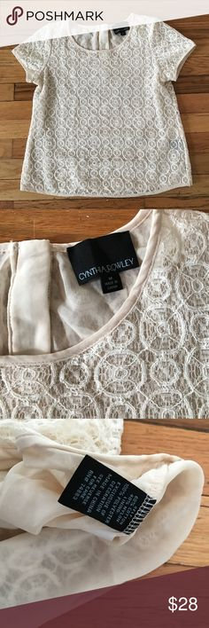 Cynthia Rowley lined cotton Lace top / size medium Excellent condition size medium Cynthia Rowley Tops