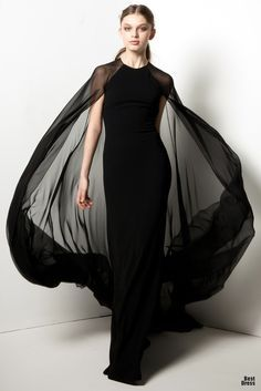 Reem Acra  ~~*reminds me of what Samantha from Bewitched wore when talking on a cloud w/ her Mother, Endora!! LOVE!*~~