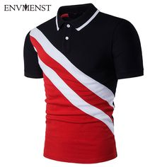 d9006ab45cc8 Click to Buy    Men Polo Shirts High Quality Cotton Contrast Color Polos