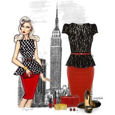 """""""Chic Girl visits the City"""" by exxpress on Polyvore @Hayden Williams"""
